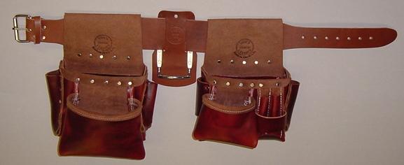custom leather tool belt. box bag set. set consists of a ub2, ub3, 3\ custom leather tool belt e